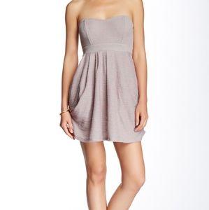 Free People Strapless Mini Dress Draped W/ Pockets